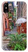 Street Scene Monterosso Italy Dsc02470 IPhone Case