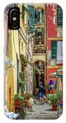 Street Scene Vernazza Italy Dsc02651 IPhone Case
