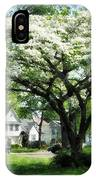 Street With Dogwood IPhone Case