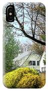 Street With Forsythia IPhone Case