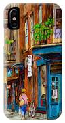 Streets Of Montreal Over 500 Prints Available By Montreal Cityscene Specialist Carole Spandau IPhone Case