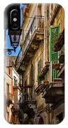 Streets Of Siracusa IPhone Case