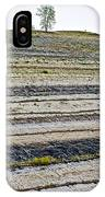 Striped Bank On Side Of A Road In Northwest North Dakota IPhone Case