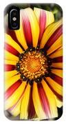 Striped Daisy Square IPhone Case