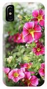 Striped Petunias IPhone Case