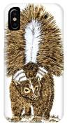 Striped Skunk IPhone Case