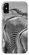 Stripes  7578bw IPhone Case
