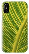 Stripey Leaf IPhone Case