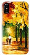 Stroll In The Forest IPhone Case