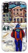 L'art De Mcgill University Tableaux A Vendre Montreal Art For Sale Petits Formats Mcgill Paintings  IPhone Case