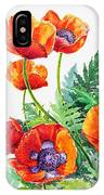 Study Of Poppies IPhone Case