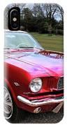 Stunning 1966 Metallic Red Mustang IPhone Case