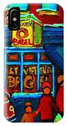 St.viateur Bagel And Hockey Kids IPhone Case