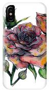 Stylized Roses IPhone Case by Lauren Heller