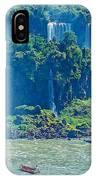 Subtropical Vegetation Surrounds Waterfalls In Iguazu Falls National Park-brazil IPhone Case