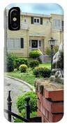 Suburban Antique House With Lion Hayward California 22 IPhone Case