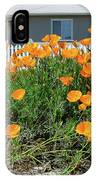 Suburban House On Orchard Avenue With Poppies Hayward California 3 IPhone Case