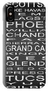 Subway Arizona State Square IPhone Case