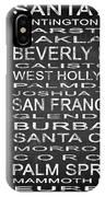 Subway California State Square IPhone Case