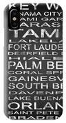Subway Florida State 3 Square IPhone Case