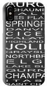 Subway Illinois State 2 Square IPhone Case