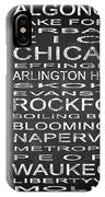 Subway Illinois State Square IPhone Case