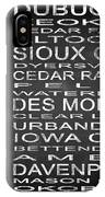 Subway Iowa State Square IPhone Case