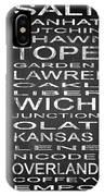 Subway Kansas State Square IPhone Case
