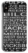 Subway Mississippi State Square IPhone Case