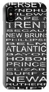 Subway New Jersey State Square IPhone Case