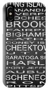 Subway New York State 3 Square IPhone Case