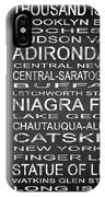 Subway New York State 4 Square IPhone Case