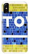 Subway Tile Sign Uptown IPhone Case