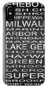 Subway Wisconsin State 2 Square IPhone Case
