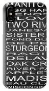 Subway Wisconsin State Square IPhone Case