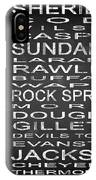 Subway Wyoming State Square IPhone Case