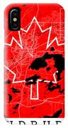 Sudbury Street Map - Sudbury Canada Road Map Art On Canada Flag Symbols IPhone Case