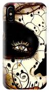Sugar Skull In Blue  IPhone Case