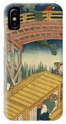 Suihiro Bridge In Moonlight IPhone Case