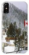 Sulphur Mountain In Banff National Park In The Canadian Rocky Mountains IPhone X Case
