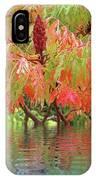 Sumac Tree Autumn Reflections IPhone Case