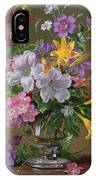 Summer Arrangement In A Glass Vase IPhone Case