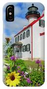 Summer At East Point Light IPhone Case
