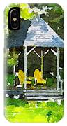 Summer Gazebo With Yellow Chairs IPhone Case