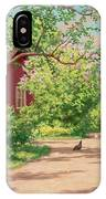 Summer Landscape With Hens IPhone Case