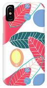 Summer Leaf In Pink  IPhone Case