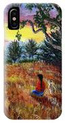 Summer Sunset Meditation IPhone Case