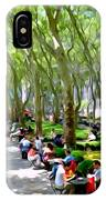 Summertime In Bryant Park IPhone Case