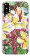 Summertime Kauai Island Plumeria Watercolor By Jenny Floravita IPhone Case