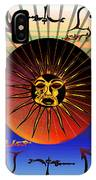 Sun Face Stylized IPhone Case